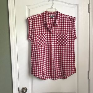 Alexander Jordan Red & White Buffalo Check Shirt